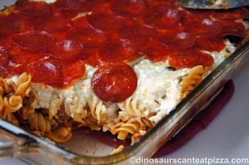 Pepperoni Pasta Bake - Nance and Robyn make the same recipe