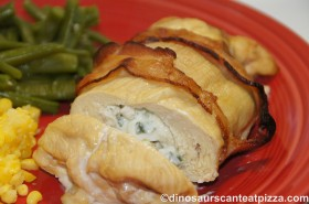 Bacon Wrapped, Cream Cheese Stuffed Chicken Breasts - Nance and Robyn make the same recipe